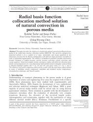 Radial basis function collocation method solution of natural ...