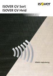 ISOVER GV Sort og GV Hvid ISOVER GV Sort til indvendig isolering ...