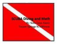 SCUBA Diving and Math - SCUBAnauts