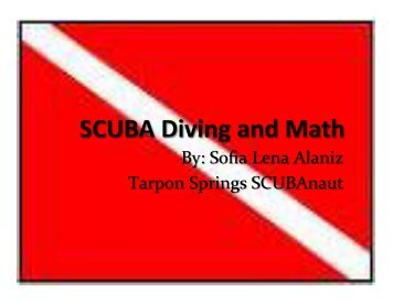 SCUBA Diving and Math - SCUBAnauts