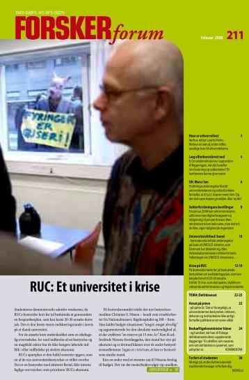 RUC: Et universitet i krise - FORSKERforum