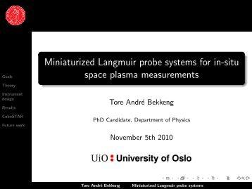 Miniaturized Langmuir probe systems for in-situ ... - IRTG Heidelberg