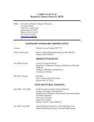 Benjamin J. Epstein, Pharm.D., BCPS - College of Pharmacy ...