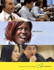 La banque d'un monde qui change 2004 - BNP Paribas