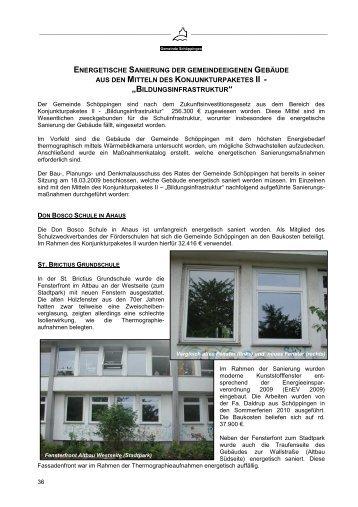 Energetische Sanierung an gemeindeeigenen Gebäuden