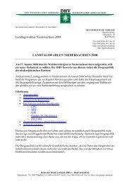 Landtagswahl 2008 in Niedersachsen - des Deutschen Hanf Verband