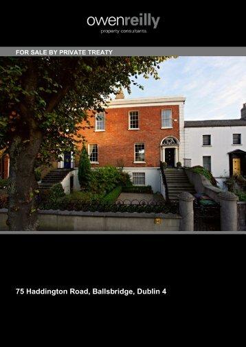 75 Haddington Road, Ballsbridge, Dublin 4 Description - MyHome.ie