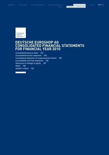 Financial Statements and Notes - Online Annual Report 2010 ...