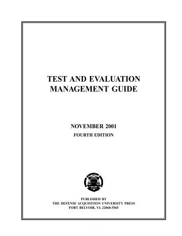 test and evaluation management guide - ACC Practice Center ...