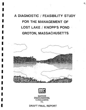 a diagnostic_feasibility study for the management of lost lake ...