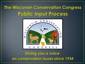 WCC public input process [PDF] - Wisconsin Department of Natural ...