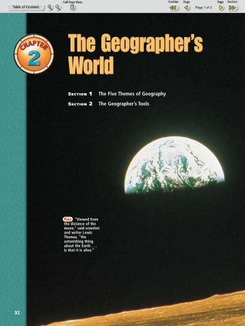 The Geographer's World The Geographer's World - Nexuslearning.net