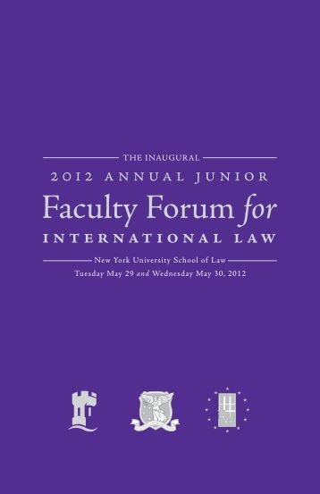 inaugural Forum - New York University