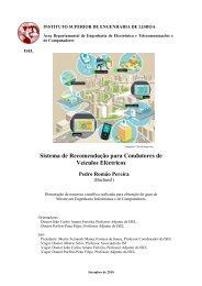 Sistema de Recomendação para Condutores de Veículos Eléctricos ...