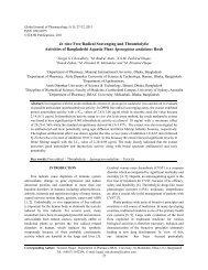 In vitro Free Radical Scavenging and Thrombolytic Activities - Idosi.org