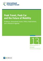 Peak Travel, Peak Car and the Future of Mobility - International ...