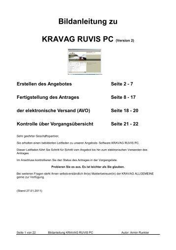 Bildanleitung zu KRAVAG RUVIS PC (Version 2) - R+V Versicherung