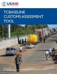 TCBaseline Customs Assessment Tool.pdf - Economic Growth - USAid