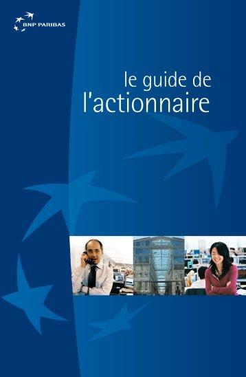 l'actionnaire - BNP Paribas