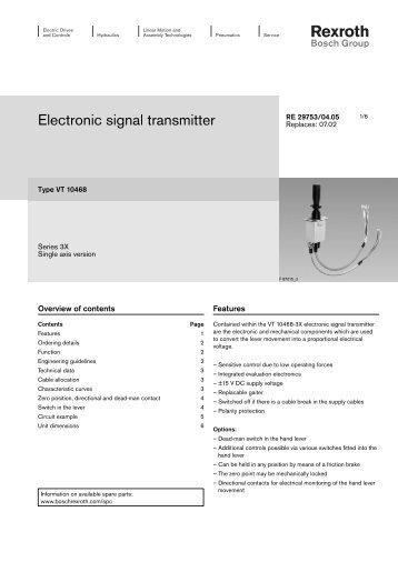 Electronic signal transmitter - Bosch Rexroth