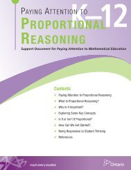 Paying Attention to Proportional Reasoning