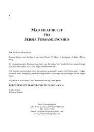 MAD UD AF HUSET FRA JERSIE FORSAMLINGSHUS
