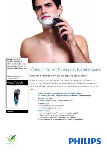 AT890/16 Philips máquina de barbear eléctrica a húmido e seco ...