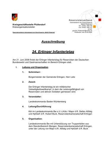 """""""24. Ertinger Infanterietag 2008"""" Der einfache Weg zur richtigen"""