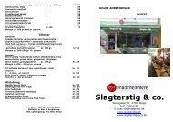 Kolde anretninger Hjemmelavede specialiteter og lækkerier.
