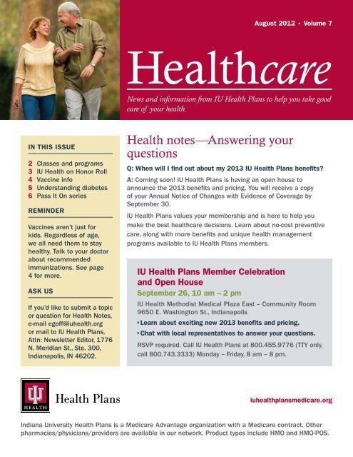 August 2012 Iu Health