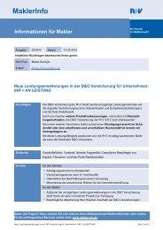 MaklerInfo 02: Leistungserweiterungen in der D&O Versicherung für ...