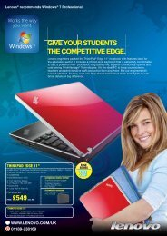 giVE yOUr stUdENts thE COMPEtitiVE EdgE. - Lenovo | US