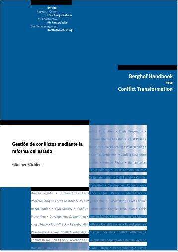 Gestión de conflictos mediante la reforma del estato - Berghof ...