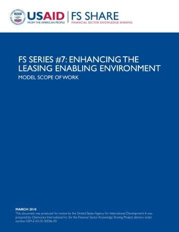 Enhancing the Leasing Enabling Environment - Economic Growth