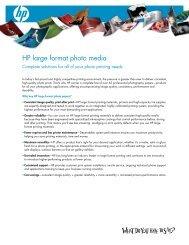 HP large format photo media