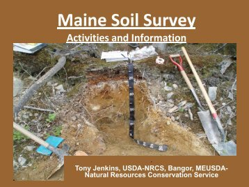 Maine Soil Survey Activities and Information - School of Forest ...
