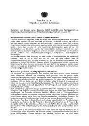 Statement von Monika Lazar (Bündnis 90/Die Grünen)