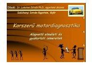 Korszerű motordiagnosztika - Széchenyi István Egyetem