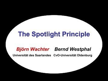 The Spotlight Principle - Universität des Saarlandes