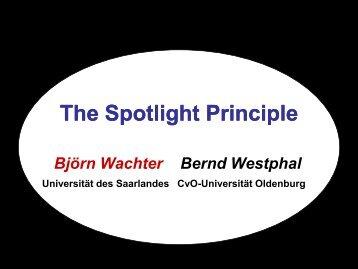 The Spotlight Principle - Universität des Saarlandes