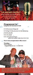 Programmet for - Gadbjerg