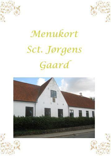 Menukort Sct. Jørgens Gaard
