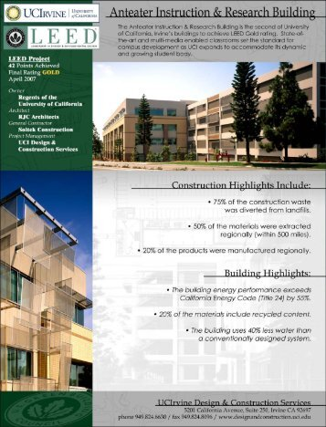 UCI Anteater Instruction and Research Building (pdf)