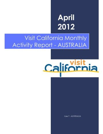 April - the California Tourism Industry Website