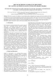 the use of physical effects in obtaining of casting aluminium alloys ...