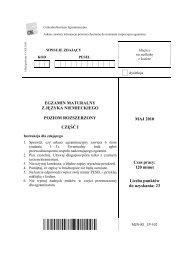 Poziom rozszerzony – część I - dlaStudenta.pl