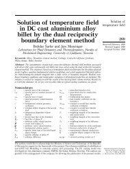 Solution of temperature field in DC cast aluminium alloy ... - Emerald