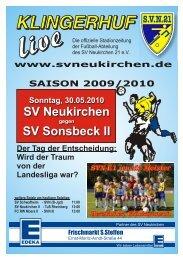Stadionheft Nr. 12 vom 30.05.10 - SV Neukirchen