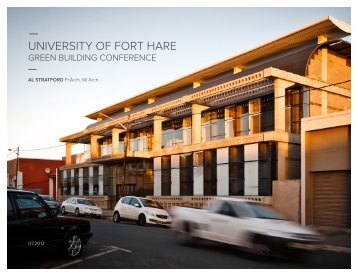 UNIVERSITY OF FORT HARE - Alive2green