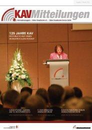 125 Jahre KaV - Kölner Anwaltverein